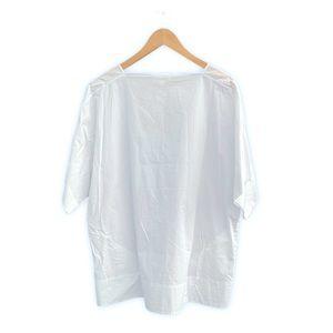 COS Boatneck White Short Sleeve Shirt Size M